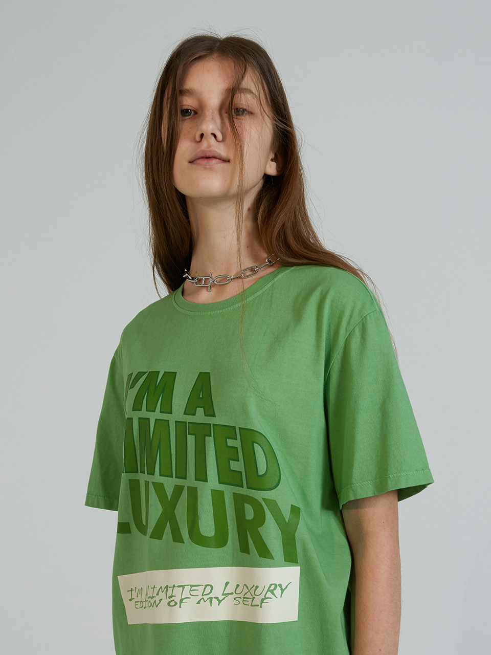 COLOR PRINT HALF T-SHIRTS_GREEN