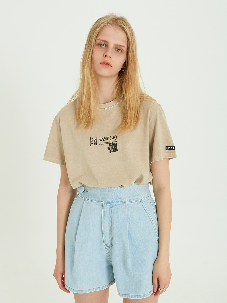 SINGLE BUTTON BELT SHORTS PT